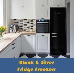 Black & Silver Fridge Freezers